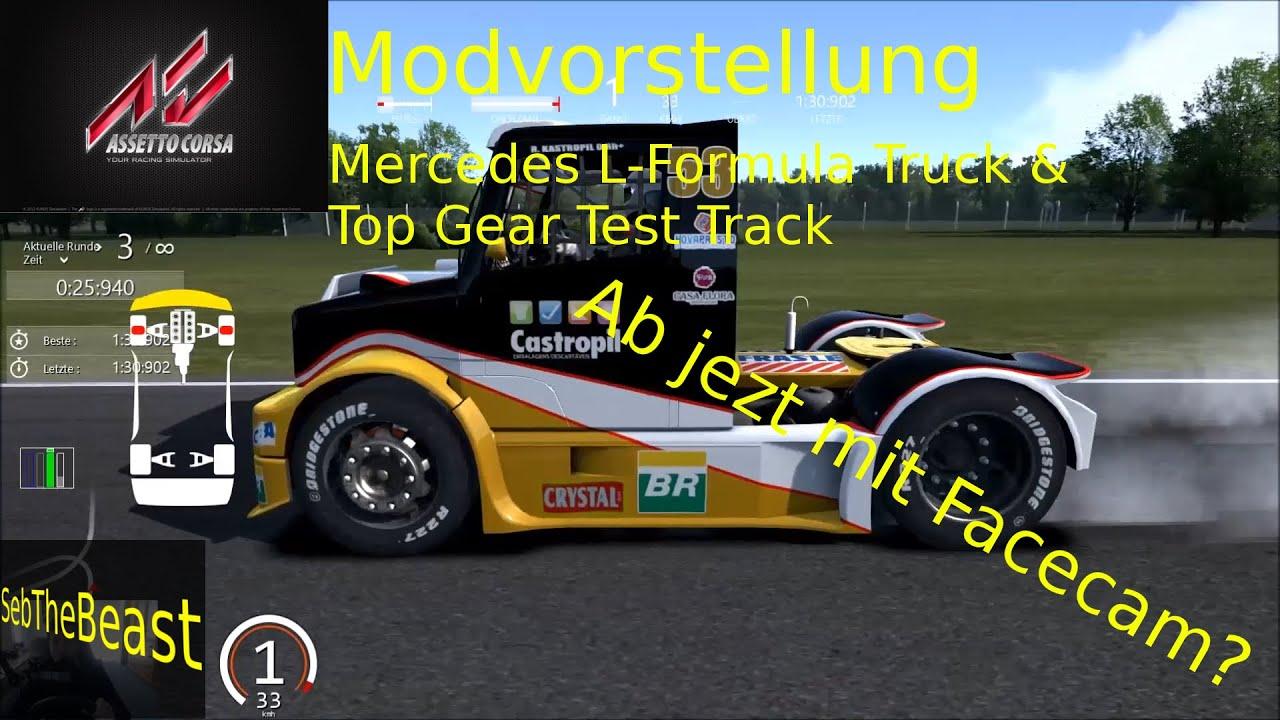 Ab sofort mit Facecam? | AC Mod Showing Mercedes Formula Truck/ Top Gear Test Track | SebThebeast