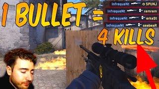 Video CS:GO - 1 BULLET = 4 KILLS! LUCKIEST SHOT 2016!? (Quad collat) download MP3, 3GP, MP4, WEBM, AVI, FLV Desember 2017