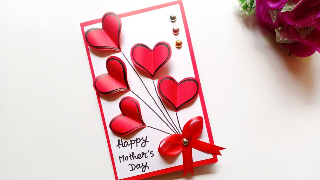 Handmade Mother S Day Card Mother S Day Pop Up Card Making Youtube