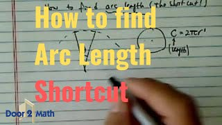 how to find arc length shortcut