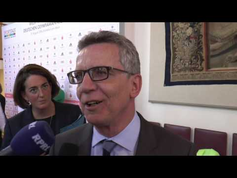 Bundesinnenminister Thomas de Maizière bei nachspielzeit.rocks