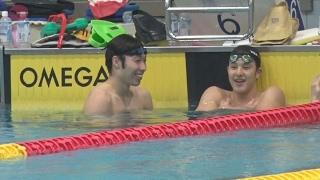 萩野 渡辺らが顔そろえる  競泳有力選手が強化合宿