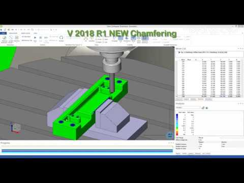 VISI 2018 R1 | Enhanced 2 Axis Chamfering Strategy
