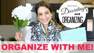 KITCHEN ORGANIZING AND DECORATING! + DIY Decorative Crates!! Organize with Me! | Justine Marie