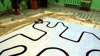 NXT Робот - движение по линии с системой корректировки. (резкие повороты трассы)