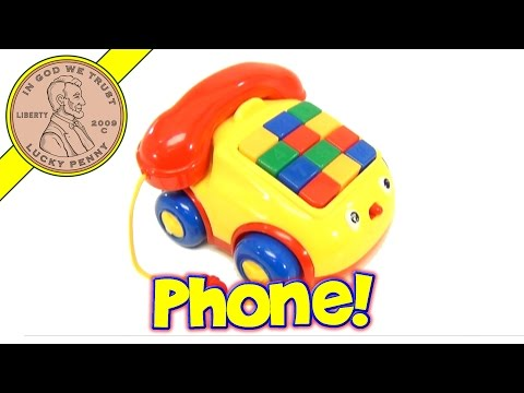 Megcos Pull-Along Rolling Musical Numbers Telephone Baby Toy