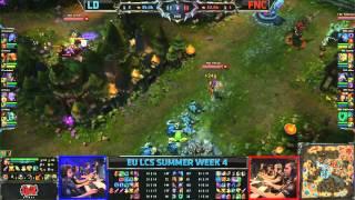 LemonDogs (LD) vs Fnatic (FNC)    EU LCS Summer 2013 W4D1    Full Game HD