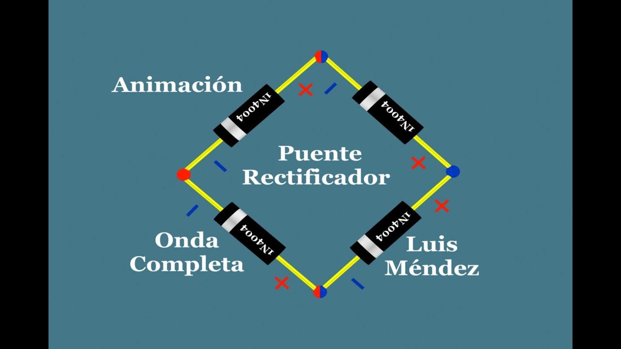 Circuito Rectificador : Puente rectificador de onda completa youtube