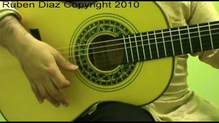 Rumba Catalana for Beginners / Contemporary flamenco guitar lessons CFG Malaga Ruben Diaz