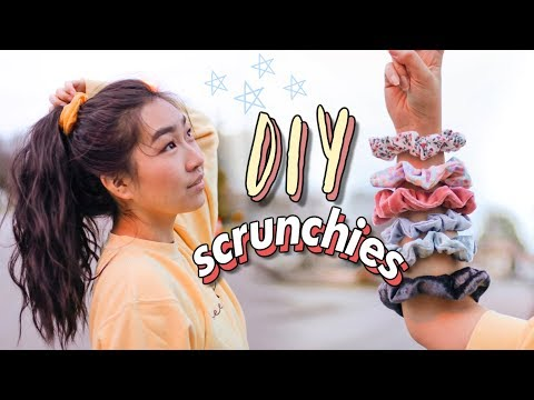 diy-scrunchies-☁️⭐️-(3-methods---no-sew-&-sew)|-jenerationdiy