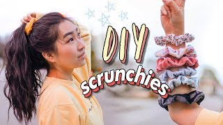 DIY SCRUNCHIES ☁️⭐️ (3 Methods - no sew & sew)| JENerationDIY