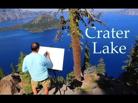 Painting Crater Lake - Ep 6 National Park Series with Eric Dowdle