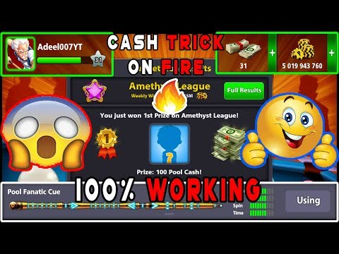 Cash Trick On Fire 100% Working / Hurry Up! / 8 Ball Pool