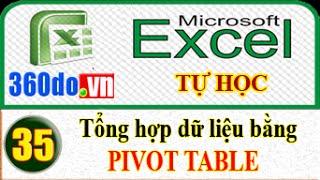 Tự học Excel: Tổng hợp dữ liệu bằng Pivot Table (Bài 35)