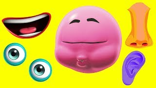 Learn Colors With Funny Face Painting | PART 1 | WonderBalls | Cartoon Candy