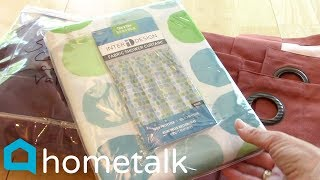 Shower Curtain Upcycles | 7 genius ways to use a shower curtain (besides your shower)! | Hometalk