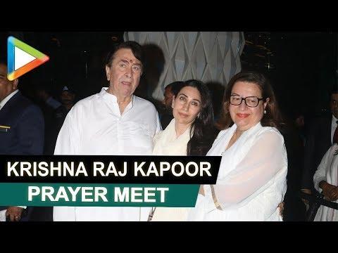 Late Krishna Raj Kapoor's Prayer Meet   Amitabh Bachchan, Rekha, Madhuri Dixit & others   Part 5