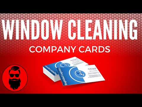 Business Cards For Your Window Cleaning Company