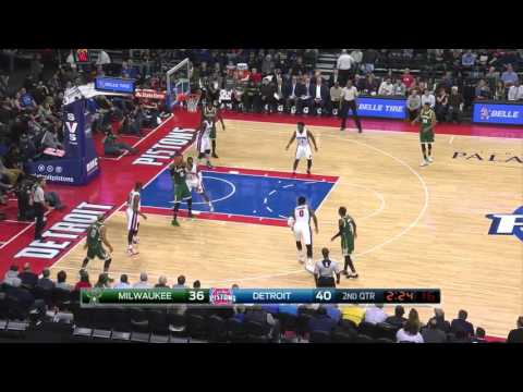Greg Monroe Full Game Highlight VS Detroit Pistons (14Points,13Rebounds)