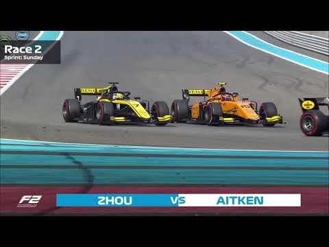 Top 5 Formula 2 Overtakes   2019 Abu Dhabi Grand Prix