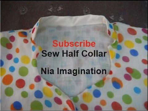 Sew Latest half collar High Neck design easy - YouTube