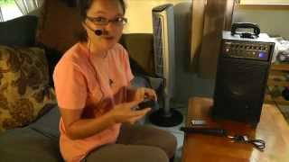 Pyle Suitcase Portable PA IPOD DOCK IPHONE - Review and Tutorial   PWMA890UI