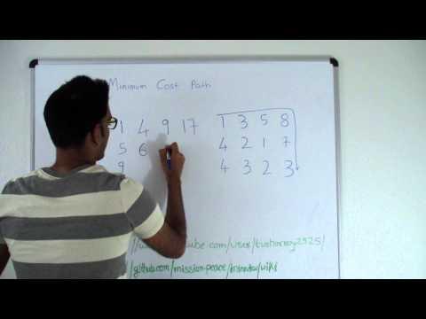 Minimum Cost Path Dynamic Programming - YouTube