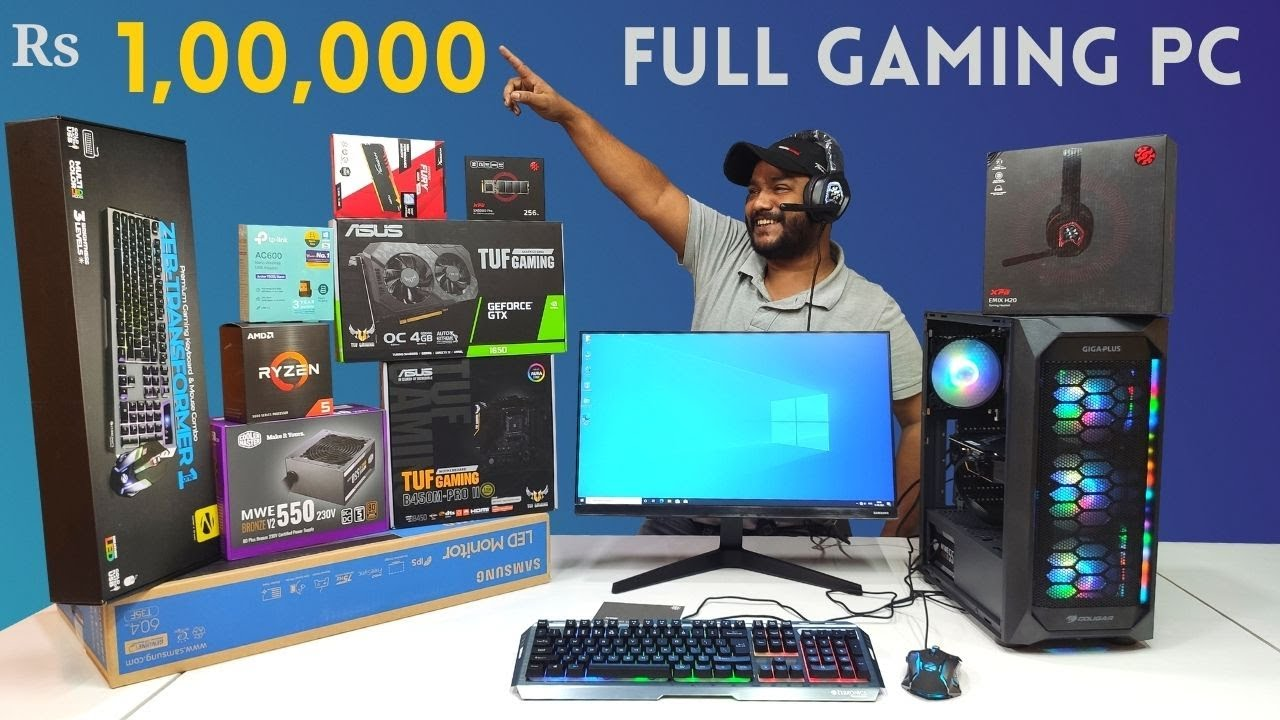 Rs 1 Lakh Full Gaming PC Build   GTX 1650   ASUS   COUGAR   Mr Pc Wale