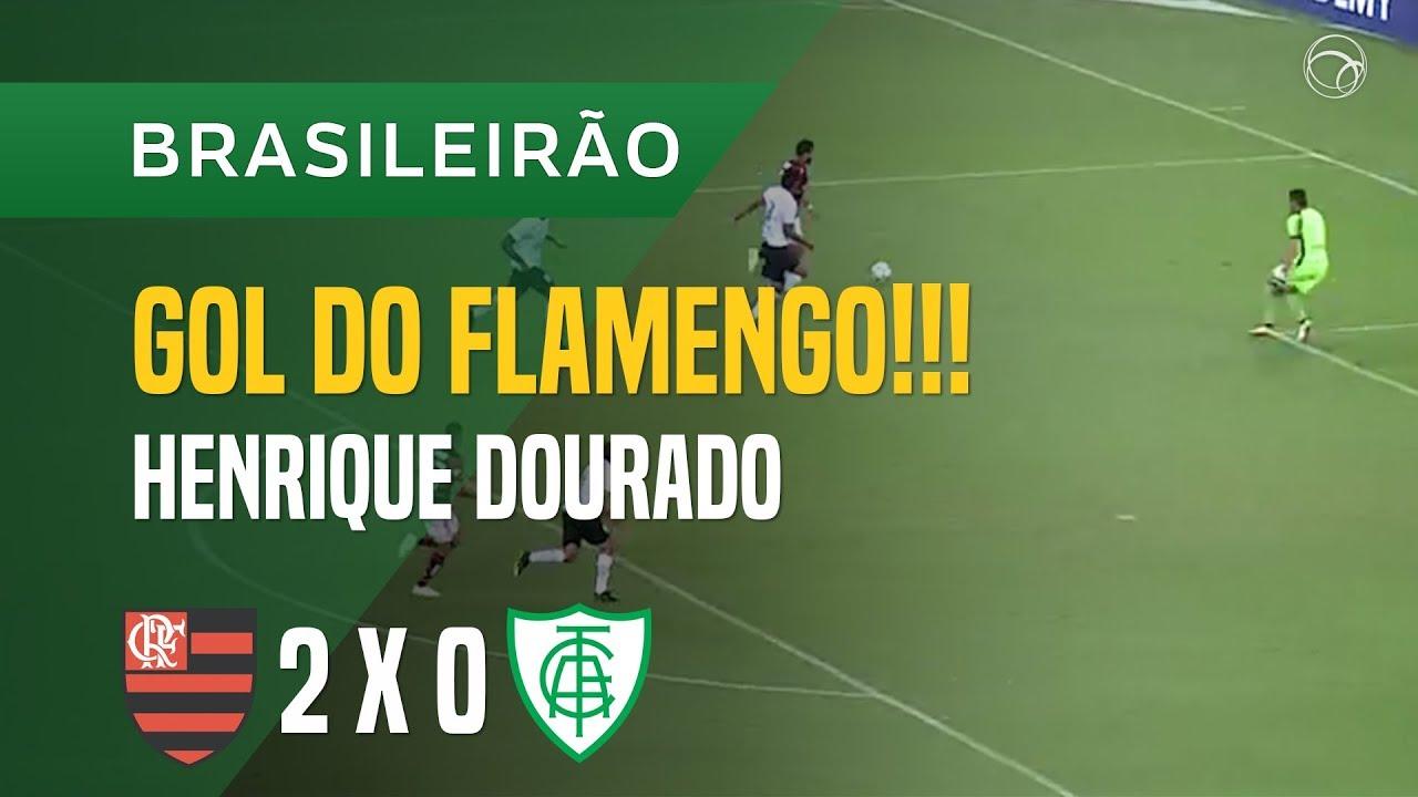 7f742cdd32 GOL (HENRIQUE DOURADO) - FLAMENGO X AMÉRICA-MG - 21 04 - BRASILEIRÃO 2018