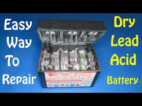 Смотреть Easy way  to repair 12v lead acid battery step by step , Awesome project that can help you онлайн