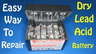 Easy way  to repair 12v lead acid battery step by step , Awesome project that can help you
