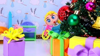 Christmas gifts 💕 Baby Superheroes Play Doh Stop motion videos