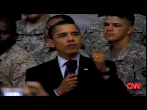 Obama surprises U.S  Troops in Iraq