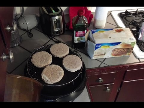 Butterball Original Seasoned Turkey Burgers From Frozen Nuwave Oven