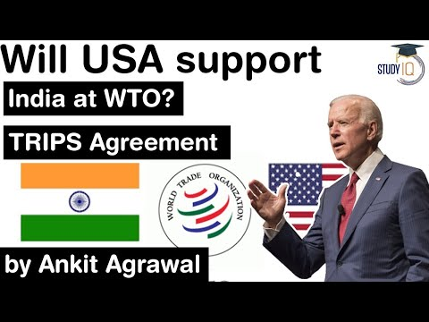TRIPS Agreement explained – Will USA support India at WTO on TRIPS Agreement? #UPSC #IAS