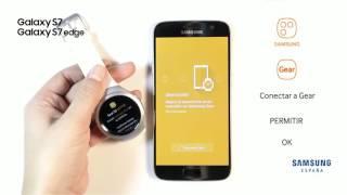 Cómo conectar el teléfono con el Gear S2 en Samsung Galaxy S7 y S7 Edge