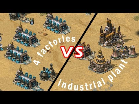 4 WAR FAC vs INDUSTRIAL PLANT? [INTENSE] // Command and Conquer