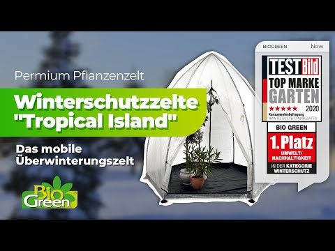 tropical island pflanzenzelte das mobile gew chshaus f r ihre k belflanzen berwinterung. Black Bedroom Furniture Sets. Home Design Ideas