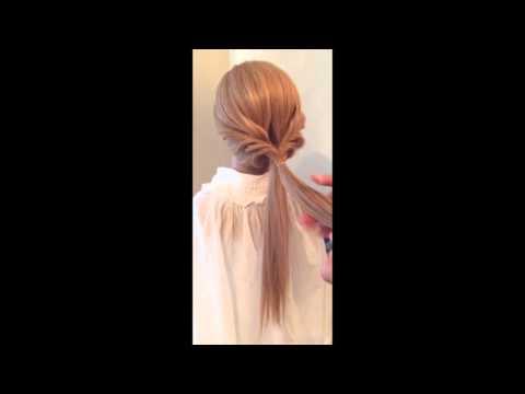 Hướng dẫn làm tóc xoắn, tết tóc kéo đơn giản mà đẹp