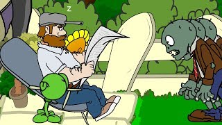 AV-ANIMATION Plants vs Zombies Animierten Serie! Episode - 2 / CRAZY DAVE TRAP