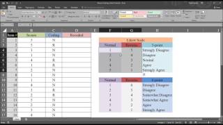 Reverse Coding a Likert Scale in Excel