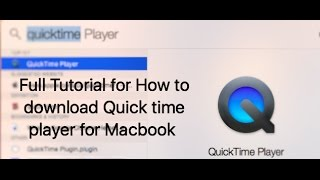 Gambar cover How to download Quick time player for Macbook And how to make a screen recording