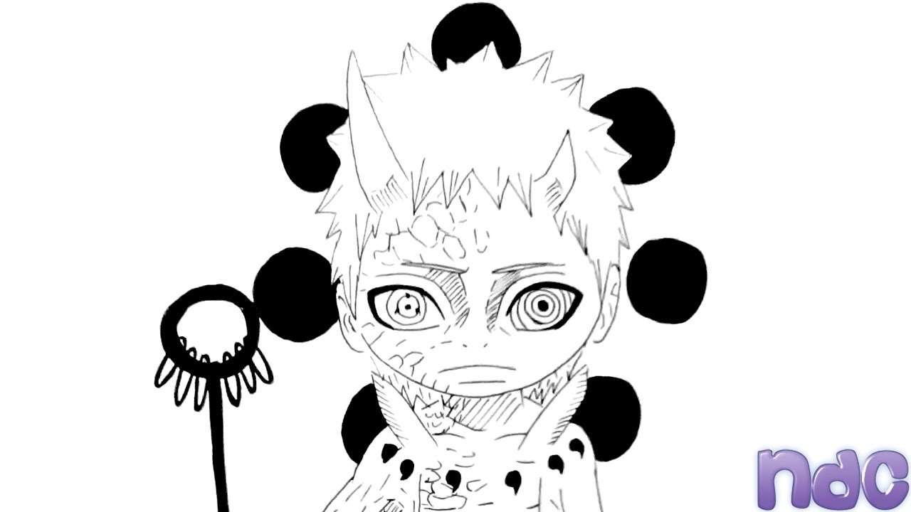 drawing chibi ten tails jinchuriki obito uchiha from