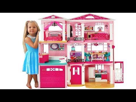 Дом куклы Барби - Самая большая Игрушка Барби на Kids Diana Show!