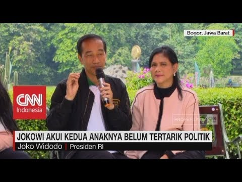 download Jokowi Akui Kedua Anaknya Belum Tertarik Politik