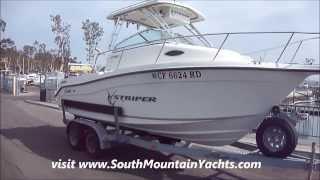 SeaSwirl Striper 21 Cuddy Cabin Walk Around Tour by South Mountain Yachts