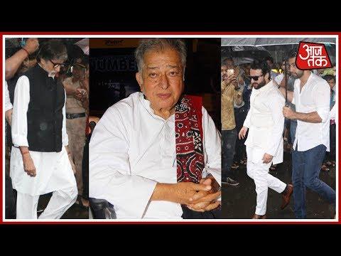 Amitabh Bachchan, Saif Ali Khan And Sanjay Dutt Attend Sashi Kapoor's Funeral