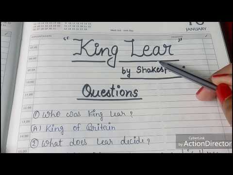 ENGLISH LITERATURE || KING LEAR 👑 BY SHAKESPEARE || QUIZ || QUESTIONS