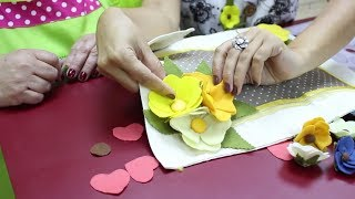 Para iniciantes: Aprenda a fazer uma linda flor de feltro