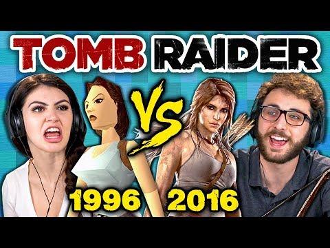 TOMB RAIDER ORIGINAL GAME vs TODAY (1996 vs 2016) (Teens React: Gaming)
